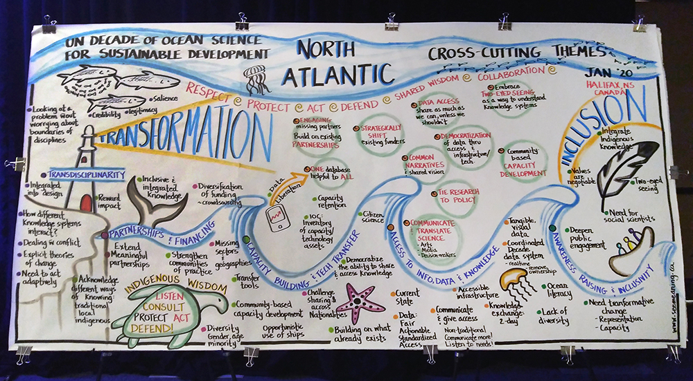 Summary infographic for the North Atlantic Regional Meeting